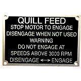 Bridgeport BP 11182894 Quill Feed Nameplate