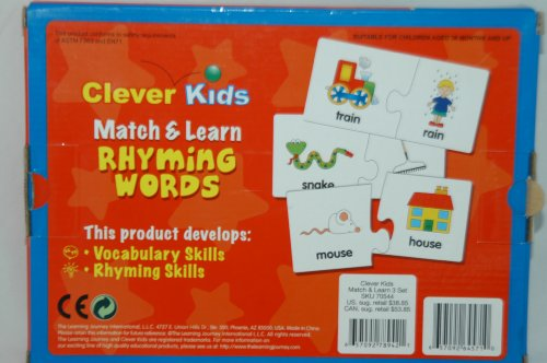 Rhyming Words Match - Clever Kids MATCH & LEARN RHYMING WORDS