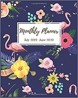 Monthly Planner July 2019 - June 2020: Pretty Flamingo ...