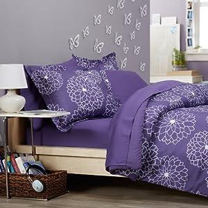 Pinzon  Piece Bed In A Bag Full Queen Purple Floral