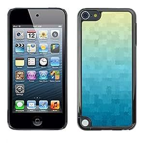 TopCaseStore / la caja del caucho duro de la cubierta de protección de la piel - Wallpaper Plaid Pattern Blue - Apple iPod Touch 5