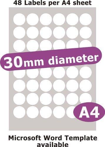 Amazon.com: Minilabel 30 mm de diámetro ronda, 240 etiquetas ...