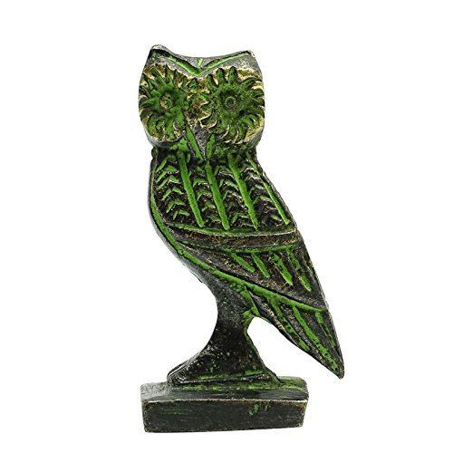 - Handmade Home Decor Statue Antique Small Owl Indian Bronze Sculpture Figurine