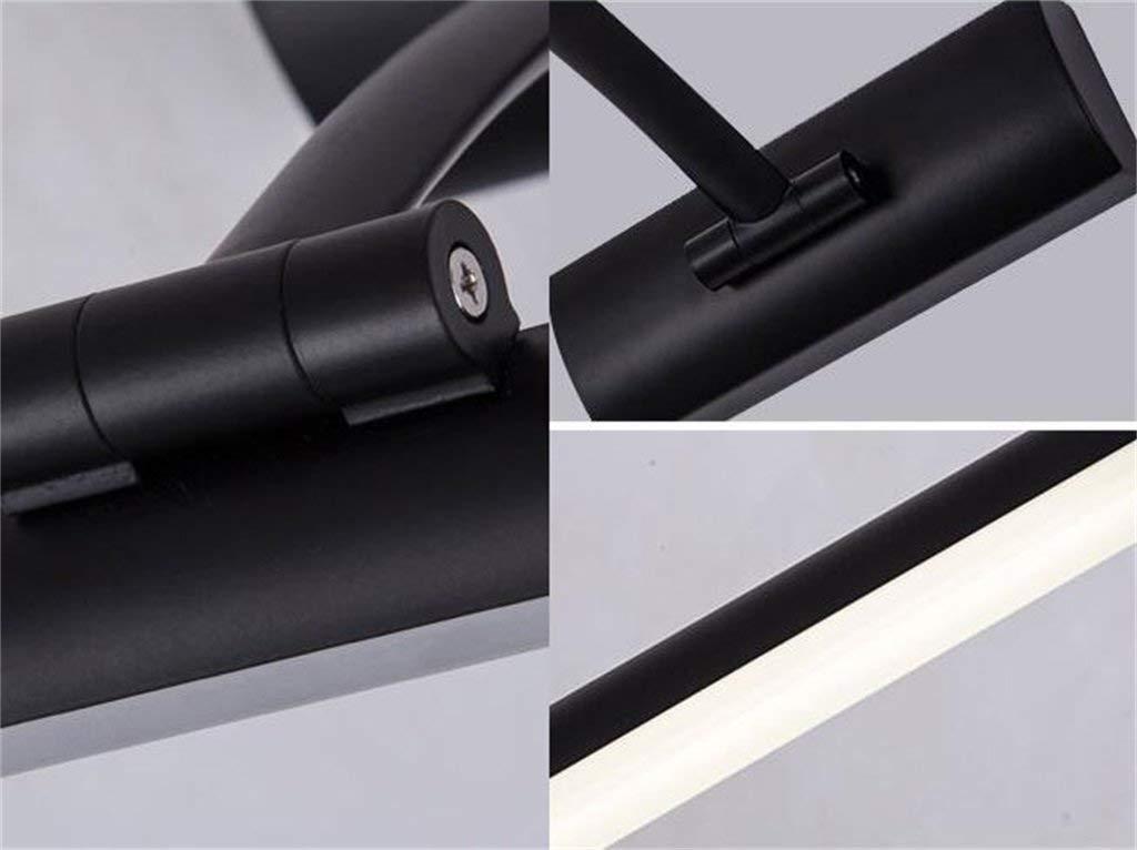 Schwarz weißen Spiegel Front-LED Front-LED Front-LED Wasserdicht Beschlagfrei WC Badezimmer moderne, einfache Kommode Spiegel leuchten Toiletten Europäischen Energiesparlampen (weißes Licht) (Farbe  schwarz -57 cm 13 W) 9d9e13