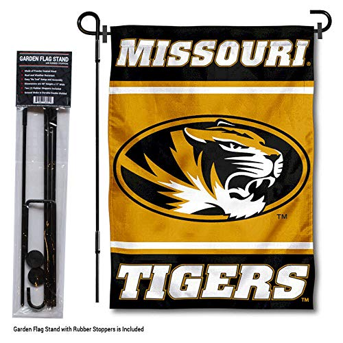 (College Flags and Banners Co. Missouri Tigers Garden Flag with Stand Holder )