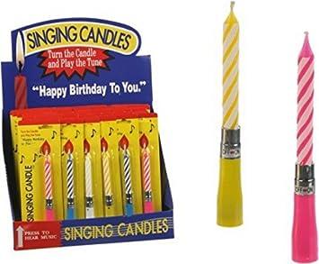 Amazon.com: Vela perfumada (tienda Feliz cumpleaños Musical ...