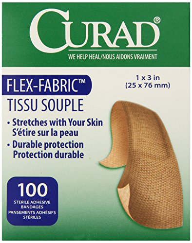 (Medline Bandage Adhesive Fabric, 1 Inch x 3 Inch, 100 Count)