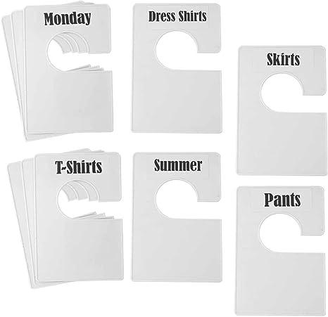 Garment Rail Clothes Size Divider 32