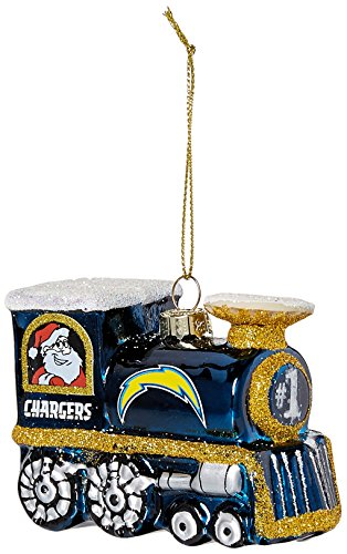 Diego San Glass Chargers Topperscot - NFL San Diego Chargers Train Ornament
