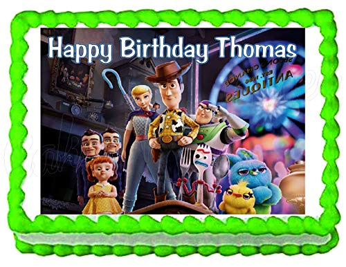 Toy Story 4 Edible Cake Image Cake Topper (Toy Story Edible Images)