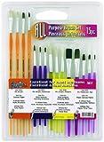 Loew-Cornell 1017 Brush Set, AP 15-Piece Plastic Handle