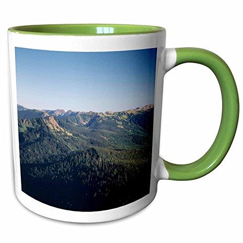 (3dRose Danita Delimont - Seattle - Space Needle tower, Seattle, Washington, USA - US48 PSO0113 - Paul Souders - 15oz Two-Tone Green Mug (mug_148483_12))