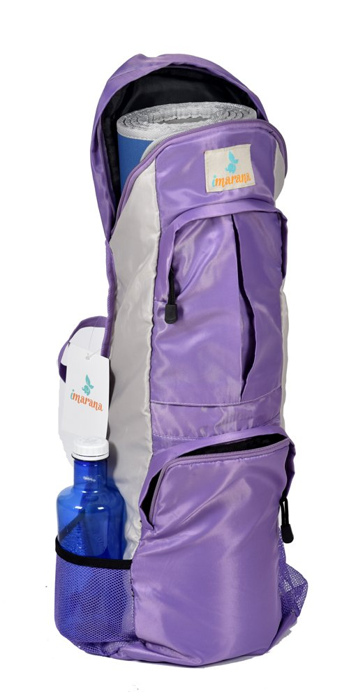 Imarana Yoga Mat Bag | Sahasrara Yoga Carrier Bag with Versatile Storage Mesh and Zipper Pockets | Fits 1/2 inch Yoga Mats