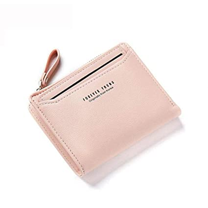 Amazon.com: Women Wallet Blue Leather Women Short Wallet Female Lady Small Solid Color Mini Purse Coin Clutch Carteras 1