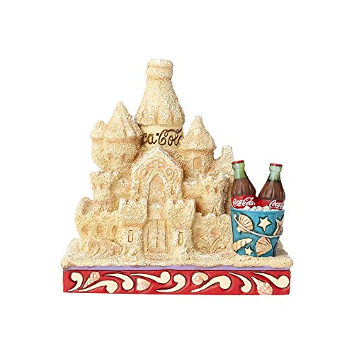 Enesco 4.41 Inches Height x 3.46 Inches Width x 4.33 Inches Length Coca Cola Sand Castle Collectible Figurine