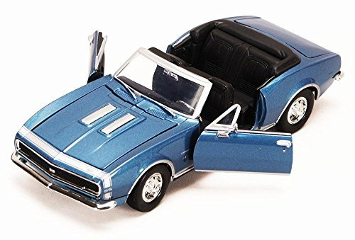 1967 Chevy Camaro SS, Blue - Showcasts 73301 - 1/24 scale Diecast Model Toy (Ss Convertible Diecast Model)