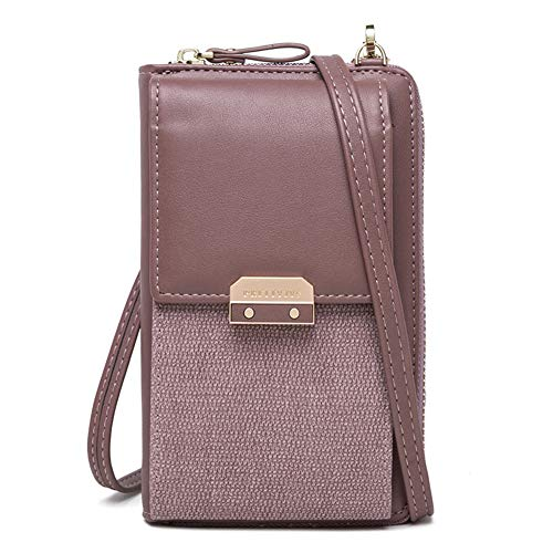 - Kukoo Small Crossbody Bag Cell Phone Purse Wallet with Credit Card Slots for Women (H-Purple)