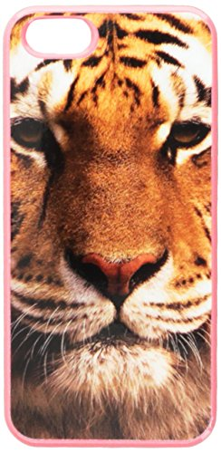 Graphics and More Bengal Tiger Face Snap-On Hard Protective Case for iPhone 5/5s - Non-Retail Packaging - Pink