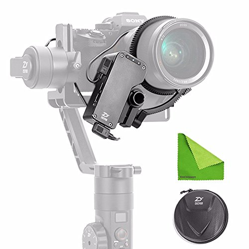 Zhiyun Crane 2 Servo Follow Focus Supports Real Time Focus with Zhiyun Crane 2 for All DSLR and Mirroless Cameras Canon Nikon Sony Panasonic (Zhiyun CMF-01) by zhi yun