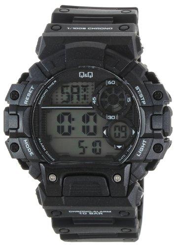 Q amp;Q Regular Digital White Dial Men #39;s Watch   M144J001Y