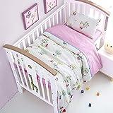 SnowAir Soft 3 Pcs Set Baby Bedding Set, Cot Set,Including Duvet Cover Pillowcase Bed Sheet Pure Cotton Baby Crib Set-Baby Product