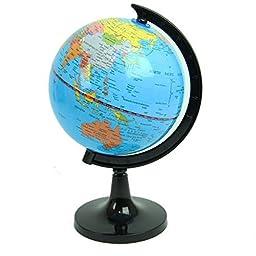 Political World Globe, Office & School Desktop Stand, Easy Rotating Swivel, 10\