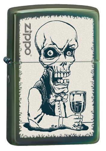 Zippo Drinking Skeleton Lighter, Chameleon