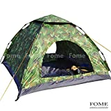 Camping Tent, FOME SPORTS|OUTDOORS Lightweight 3-4 Person Automatic Outdoor Waterproof Folding Family Pop up Tent for Travel Camping Camouflage One Year Warranty