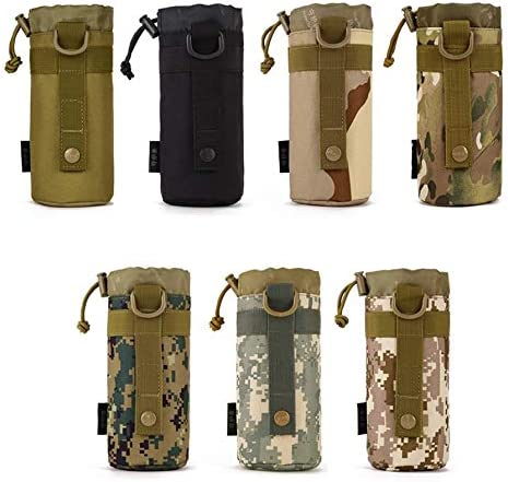 Nihlssen Protector Plus Tactical Water Bottle Pouch Military Molle System Kettle Bag for Camping Hiking Travel Water Bottle Holder