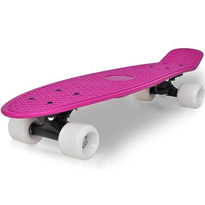"""vidaXL Skateboard Rétro Lilas avec Roulettes Blanches 6,1"""""""
