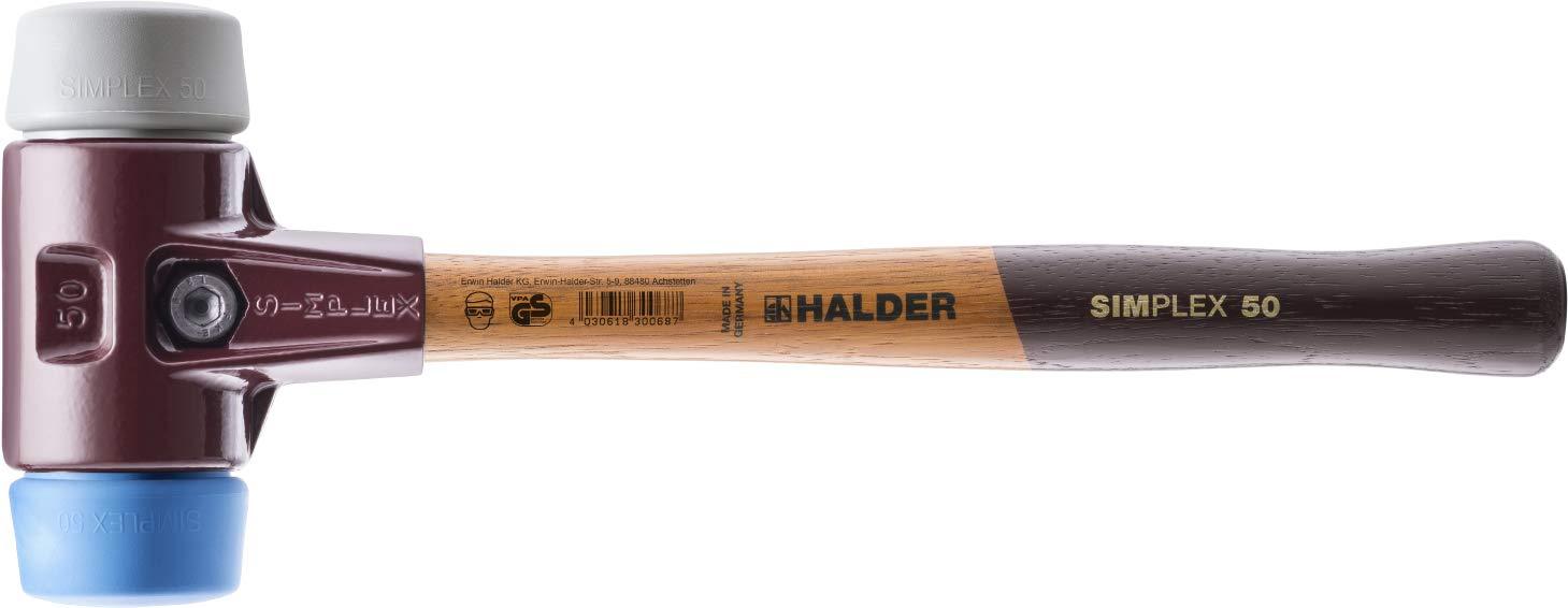 Halder 3013.040 Simplex 21 oz Soft-Face Hammer, Blue Rubber/Grey Rubber Faces by Halder