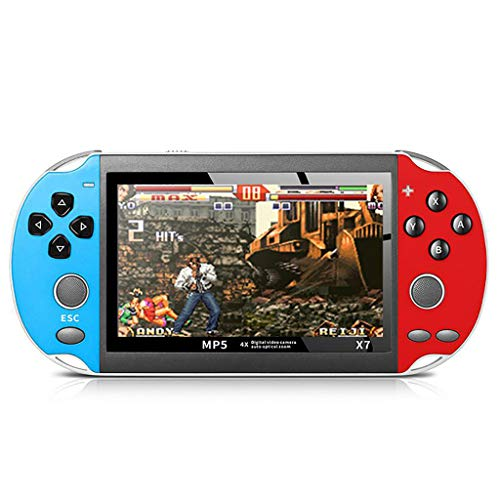 Cywulin Handheld Game Console, Built-in 800 Classic Video Arcade Games Player Portable Gameboy 4.3 Inch Large Screen 8GB System Multiple File Formats, Birthday Presents Kids Children Adults (R&B)