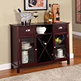 Buffet Server / Wine Rack Finish: Cherry For Sale