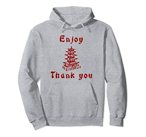 Unisex Chinese Take Out Funny 2-Sided Hoodie Medium Heather (Chinese Takeout Halloween Costumes)
