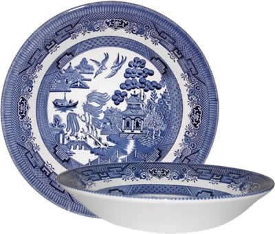 Churchill Made in England Blue Willow Pattern 8 Inch Coupe Soup Cereal Bowl  sc 1 st  Amazon.com : blue willow dinnerware made in england - pezcame.com