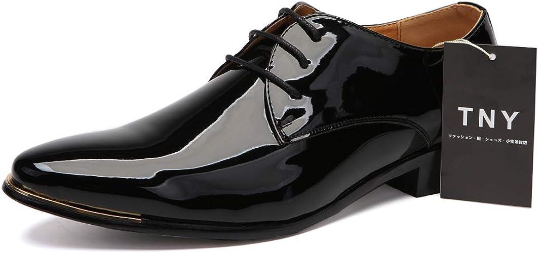 Amazon Tny メンズ 革靴 紳士靴 ビジネスシューズ エナメル