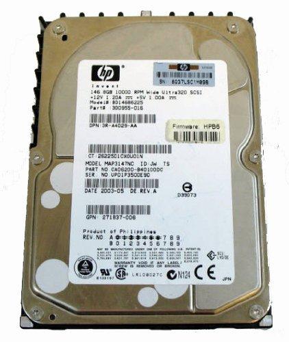 Hp/fujitsu 146.8gb 10k RPM Wide Ultra320 Scsi Hard Drive-300955-016