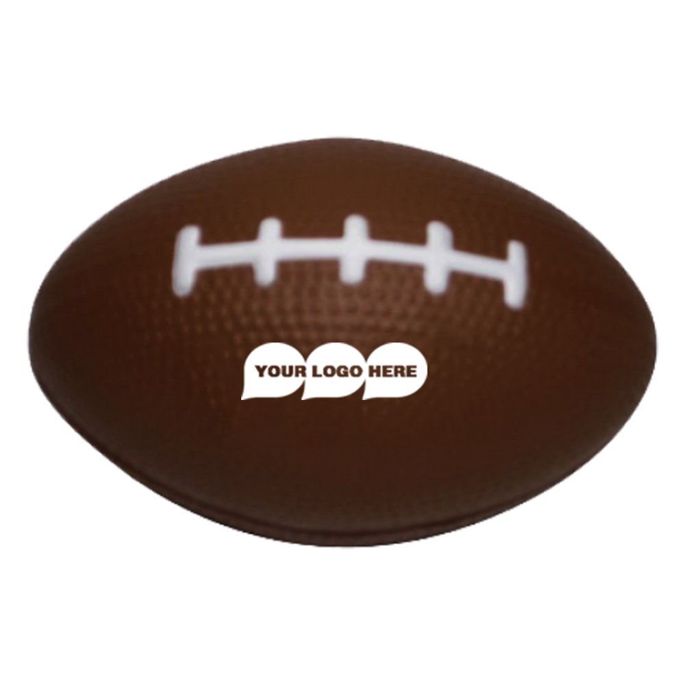 Stress Ball Rugby - 100 Quantity - $2.15 Each - PROMOTIONAL PRODUCT / BULK / BRANDED with YOUR LOGO / CUSTOMIZED