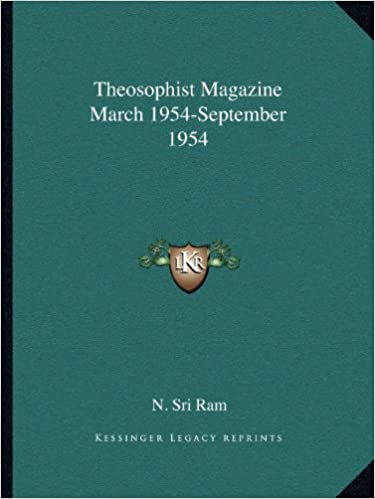 Theosophist Magazine March 1954-September 1954