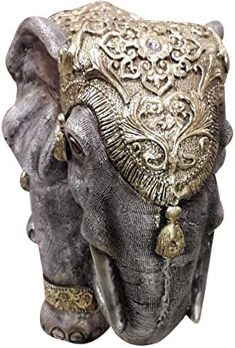 HandicraftShowpiece of Asian Elephant 17 InchGrey ColorClay FibreBest for GiftingMade by Awarded Indian Artisan