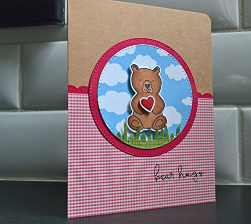 Get Well Card, Encouragement, Thinking of You, Handmade Greeting Cards, Bear Hugs Birthday Wishes