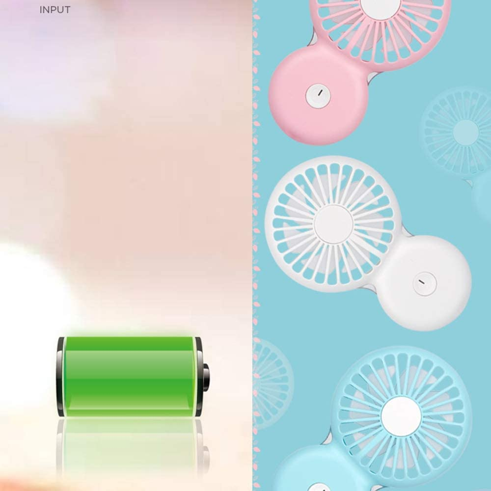 Small Fan A8 Ultra-Thin Mini Hand-held Fan Mute Windy Night Light Small Fan USB Charging Portable Fan Turn Page Second File