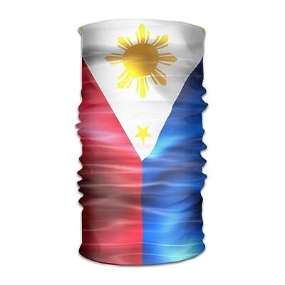 Unisex Wave Philippine Flag Multifunctional Bandanas Sweatband Elastic Turban Headwear Headscarf Beanie Kerchief