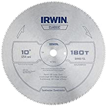 Irwin 11870 10-Inch 180 Tooth TCG Plywood, OSB, Veneer and Plastic Cutting Saw Blade with 5/8-Inch Arbor