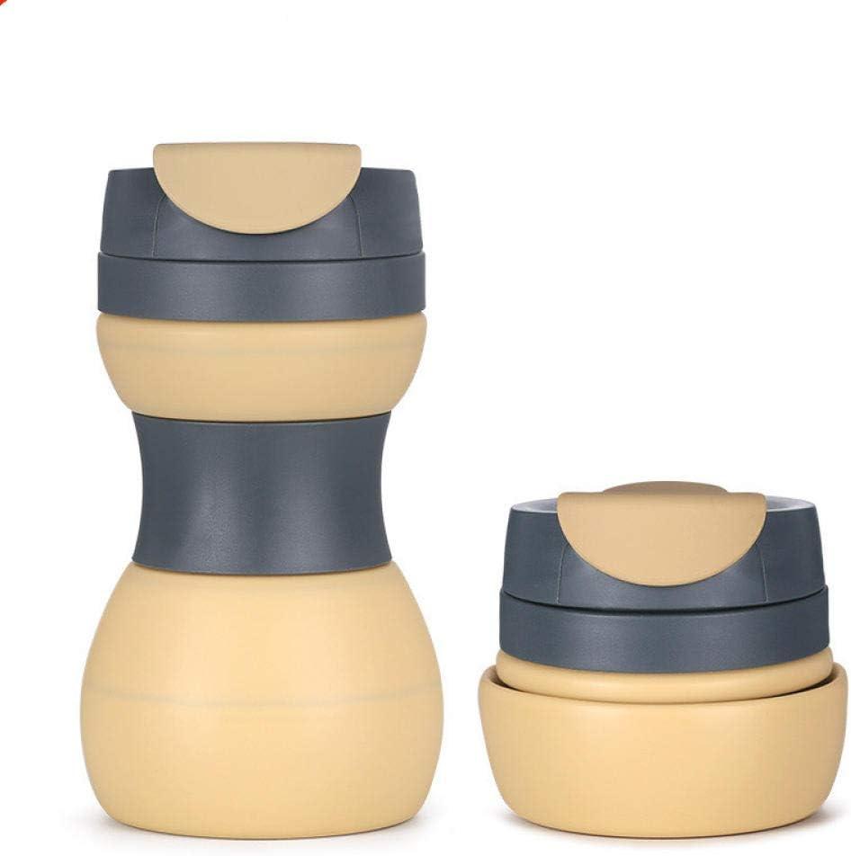 Vaso plegable de silicona de 500 ml, botella deportiva telescópica ...