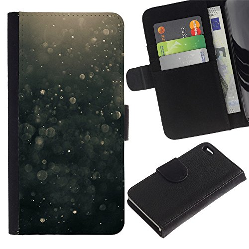 Paccase / Flip Cuir Portefeuille Housse Fente pour Carte Coque Étui de Protection pour - Suspension Black Bubbles Hope - Apple Iphone 4 / 4S