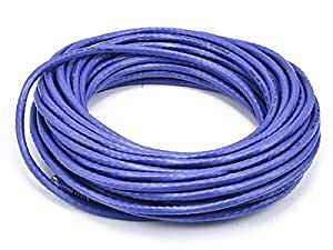Monoprice Cat6 Ethernet Patch Cable - Network Internet Cord - RJ45, Stranded, 550Mhz, UTP, Pure Bare Copper Wire, 24AWG, 50ft, Purple