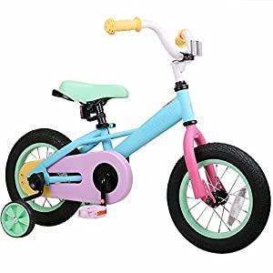 JOYSTAR 12 Inch Kids Bike for 2-4 Years Girls, Child Bicycle with Training Wheel & Coaster Brake for 2-4 Years Kids, 85% Assembled