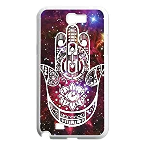 wugdiy New Fashion Cover Case for Samsung Galaxy Note 2 N7100 with custom Colorful Hamsa Hand