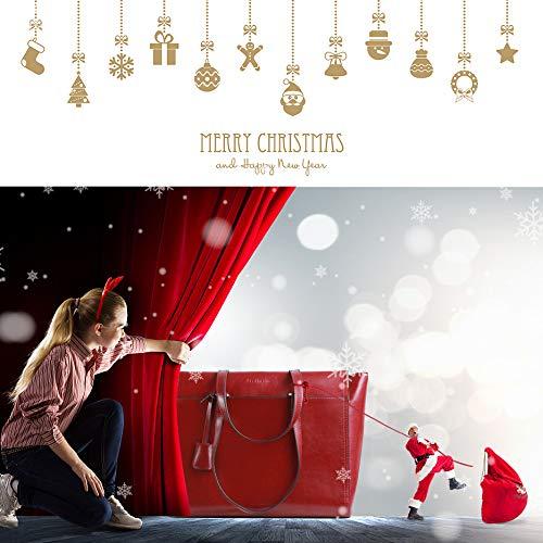 Bolsos Shopping Color Bolso Tipo Para De Cuero Hombro Mano Bolsa Rojo Mujer Diario Marrón Autentico Señoras Piel Pv7Iqv